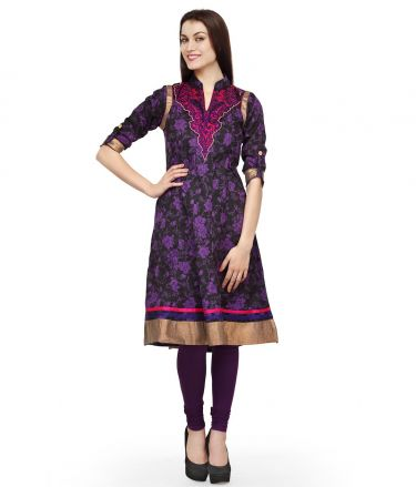 Aujjessa_Tasveer_Kurti_Purple_Orange