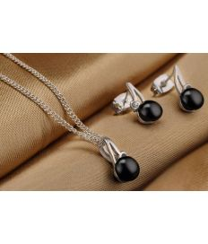 Groupon Tasveer_ 202-11 PENDANT+EARRING_SET_BLACK 1